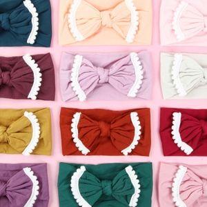 Other - 4 for $25 White Pom Pom Trimmed Baby Headband